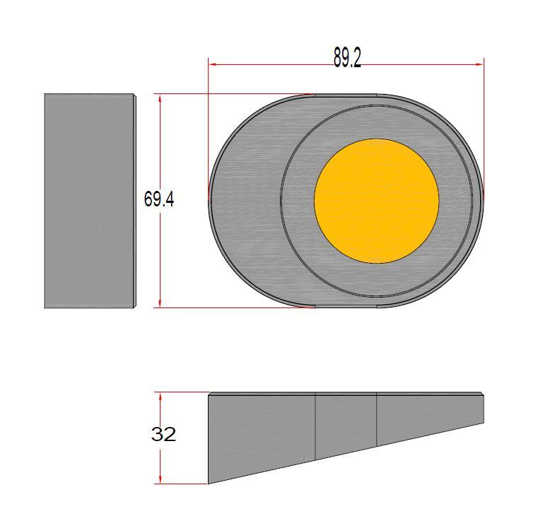 led puck light size