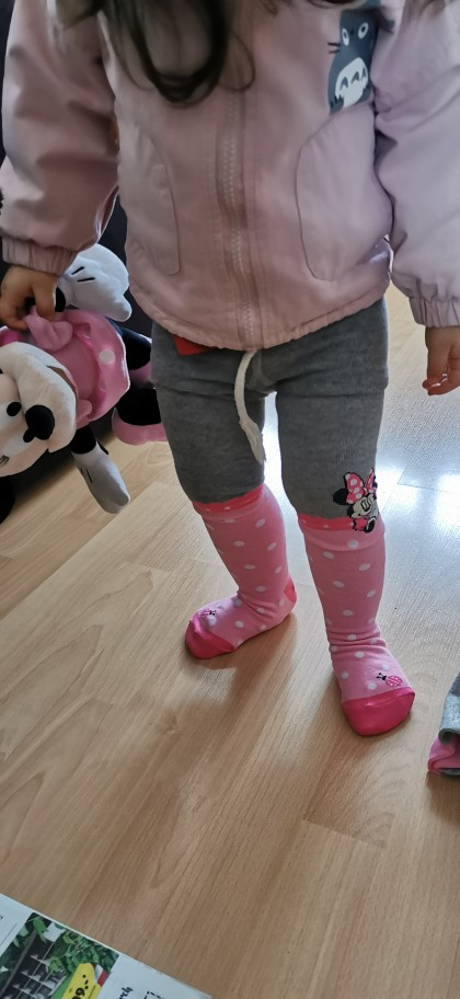 Disney Mickey Mouse Pattern Tights For Girls Cute Pink Cotton Knitted Pantyhose Stockings For Babys Infant Tights For 2-10Y New photo review