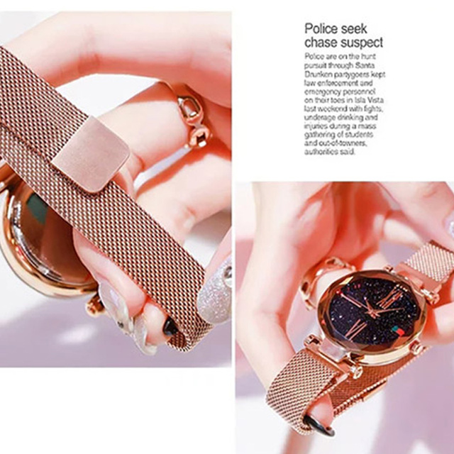 Relojes de oro rosa para mujer