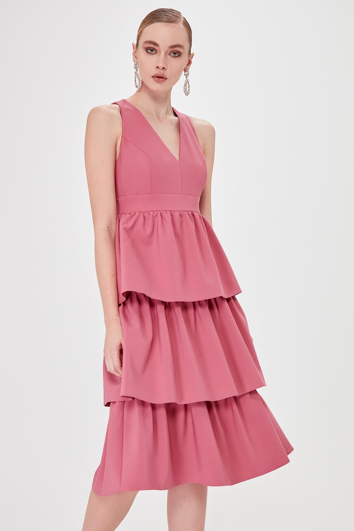 Trendyol Collar Detail Dress TPRSS20EL0074