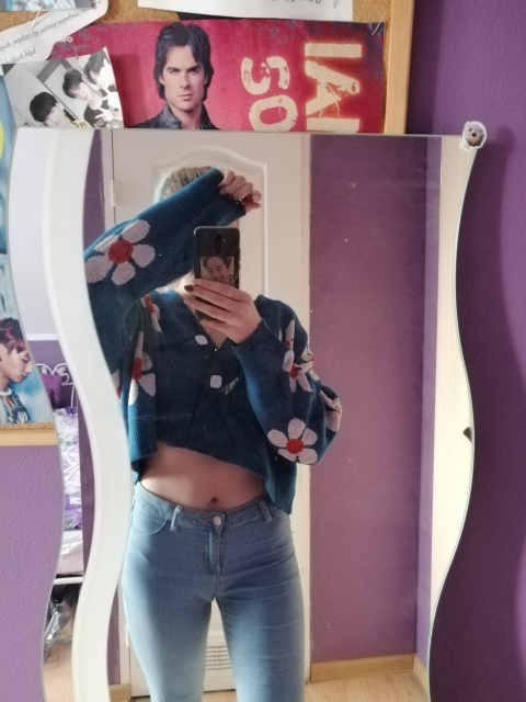 Flower Knitted Loose  Sweater photo review