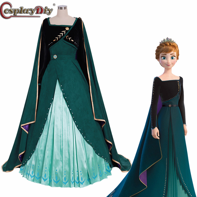 Frozen Princess Anna Adult Childern Dress Cosplay Costume Custom Made Any Size