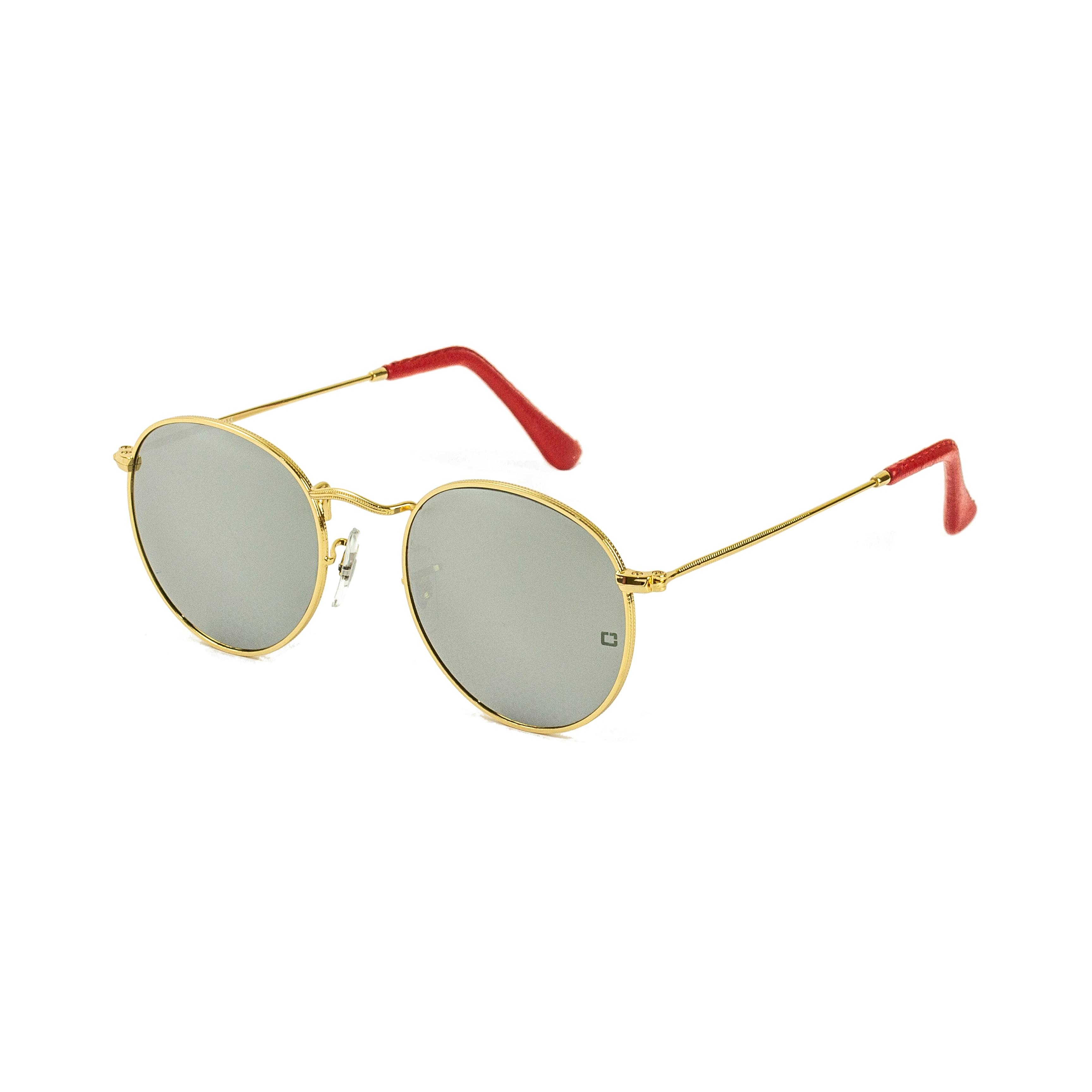 Zolo очки новый дизайн rayban стиль Кристальные серебряные зеркальные линзы uv400 круглый Люкс Мужские солнцезащитные очки леди gafas кожа терминал
