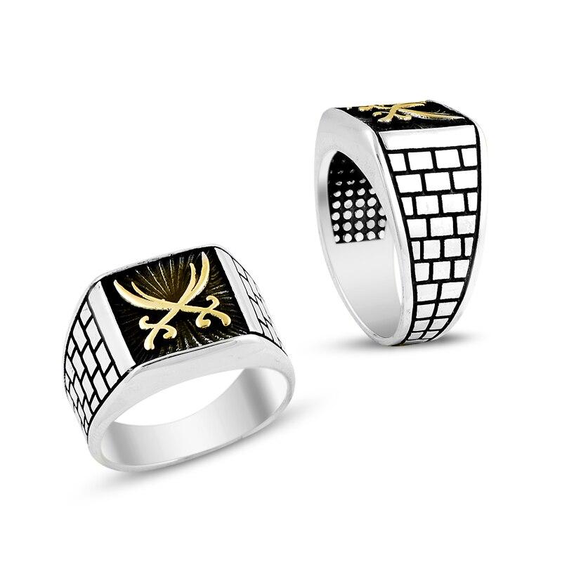 925 Silver Handmade Khalif Sword Rings for Men