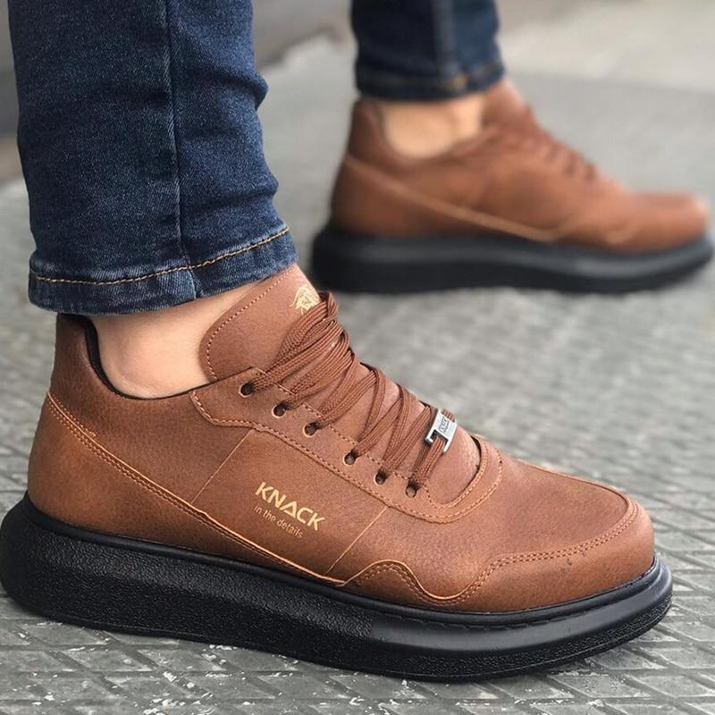 Knack 040 Men Sneakers Casual Sport Shoes For Men Women Unisex Lace-up Men Shoes Lightweight Comfortable Flexible Fashion Style