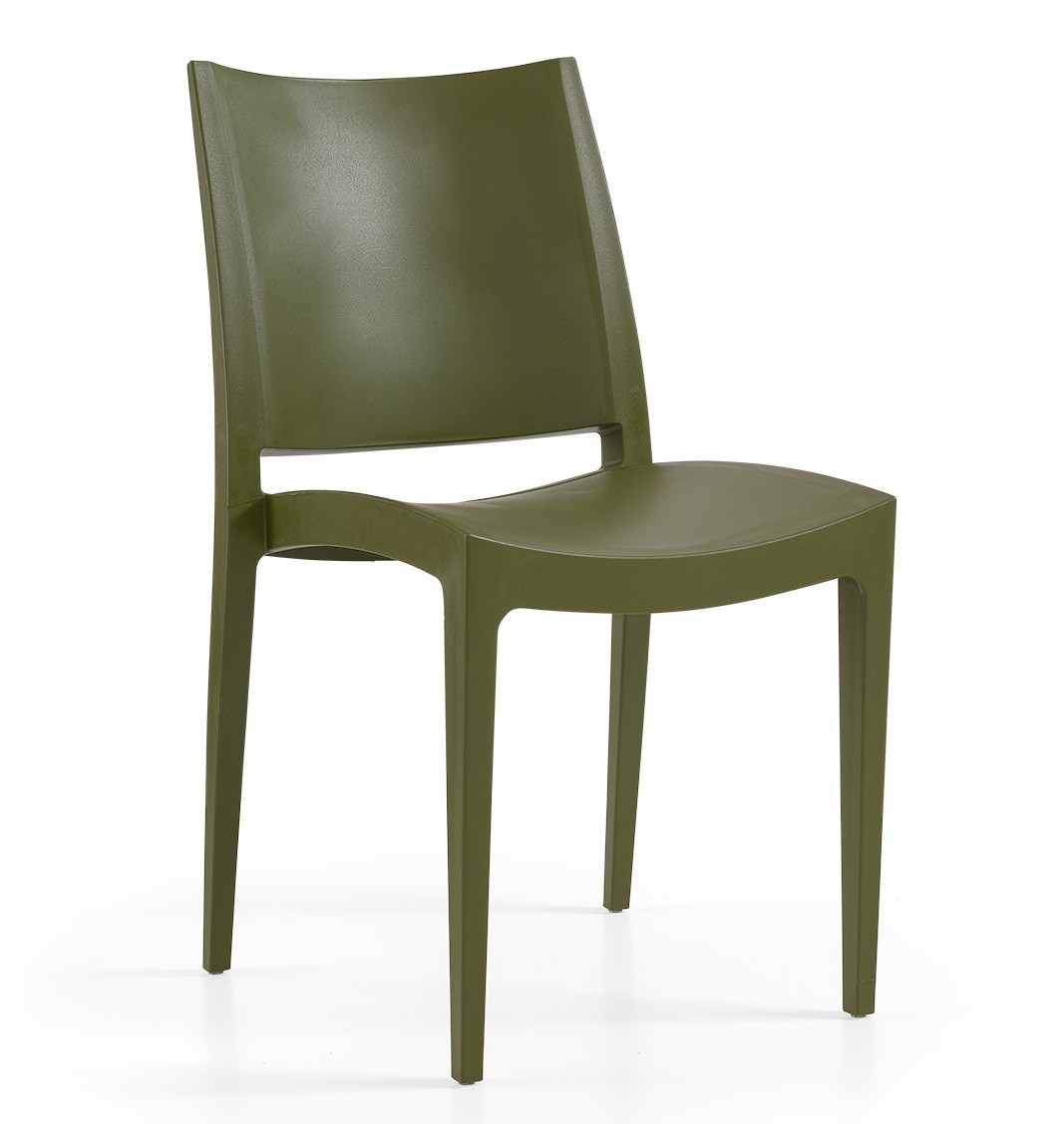 Chair BEYBE, Stackable, Polypropylene Olive Green