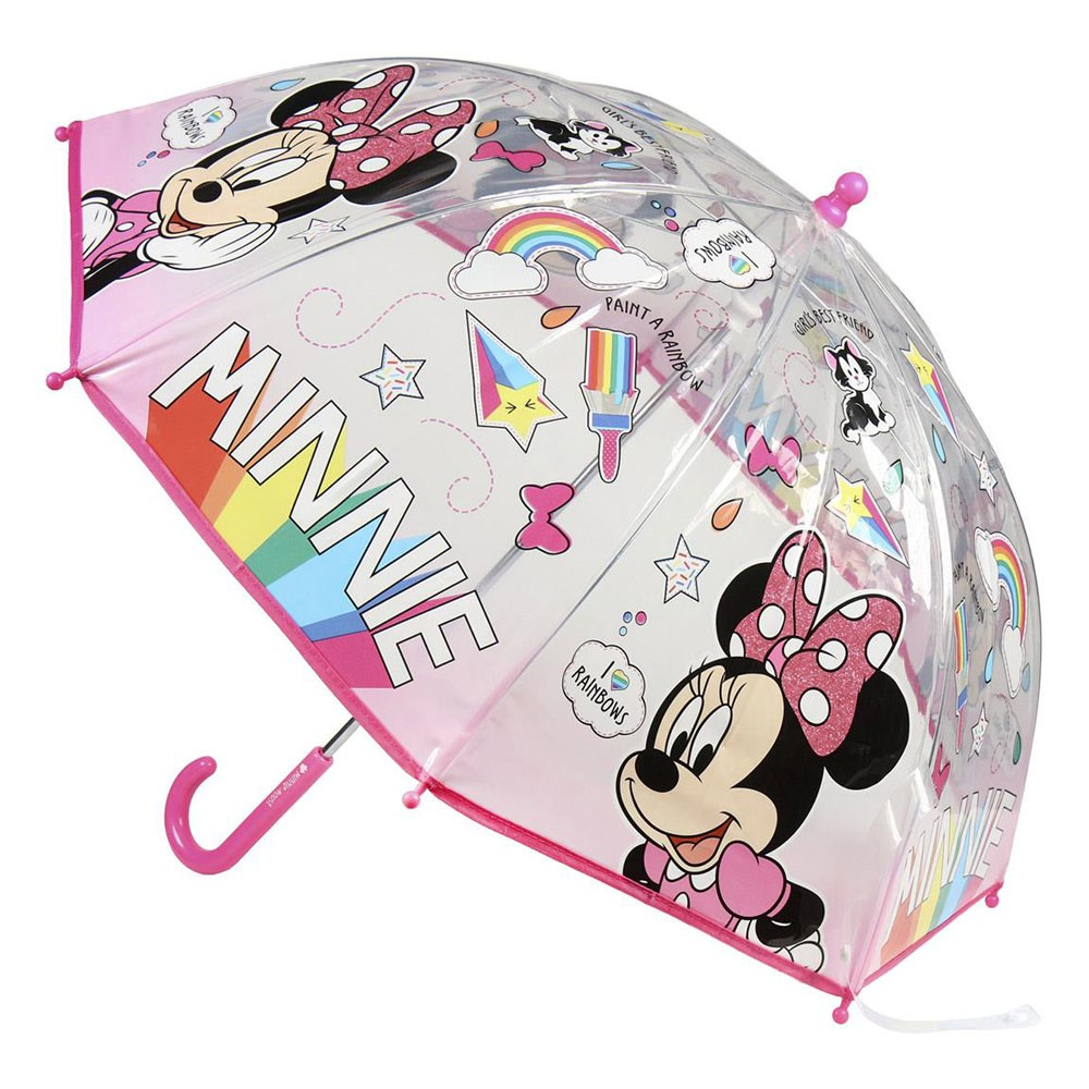 Umbrella Minnie Disney Transparent Hand 45 Cm.