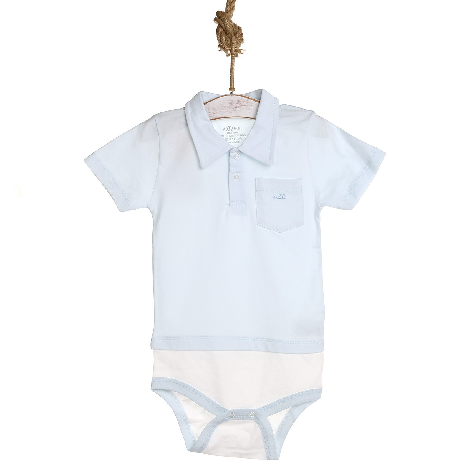 Ebebek Aziz Bebe Baby Boy Summer Short Sleeve Bodysuit