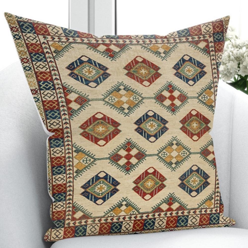 Else Ottoman Turkish Vintage Geometric Ethnic Design 3D Print Throw Pillow Case Cushion Cover Square Hidden Zipper 45x45cm Pillow Case     - title=