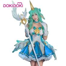 DokiDoki Game League of Legends  Soraka Cosplay Star Guardiance Costume
