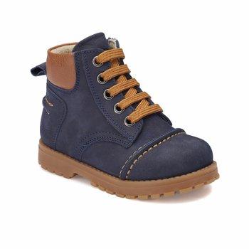 FLO NEPO skórzane granatowe męskie buty dziecięce KINETIX tanie i dobre opinie ALLIGATOR Korka Chłopcy
