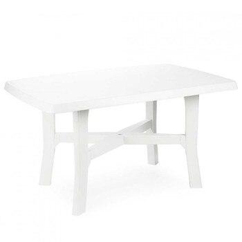 White resin table 138x88x72cm Progarden