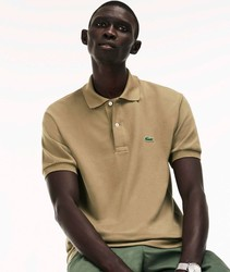 Pole LACOSTE L.12.12 BASIC for men short sleeve color light brown