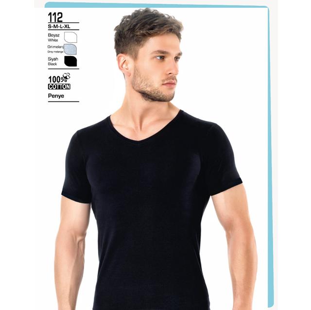 Turqstore T-shirt Men Fitness Fashion No Print High Quality Cotton Underwear MAN 03 (Made in Turkey Male Aesthetic Tshirt)