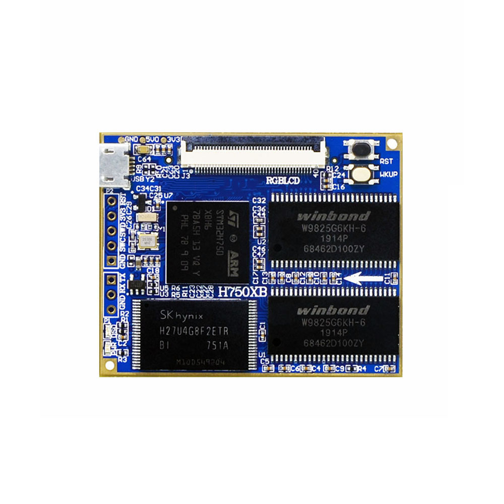 Taidacent STM32H750XBH6 / STM32F750N8H6 Core Board STM32H750 Evaluation Board H750 / F750 Development Board