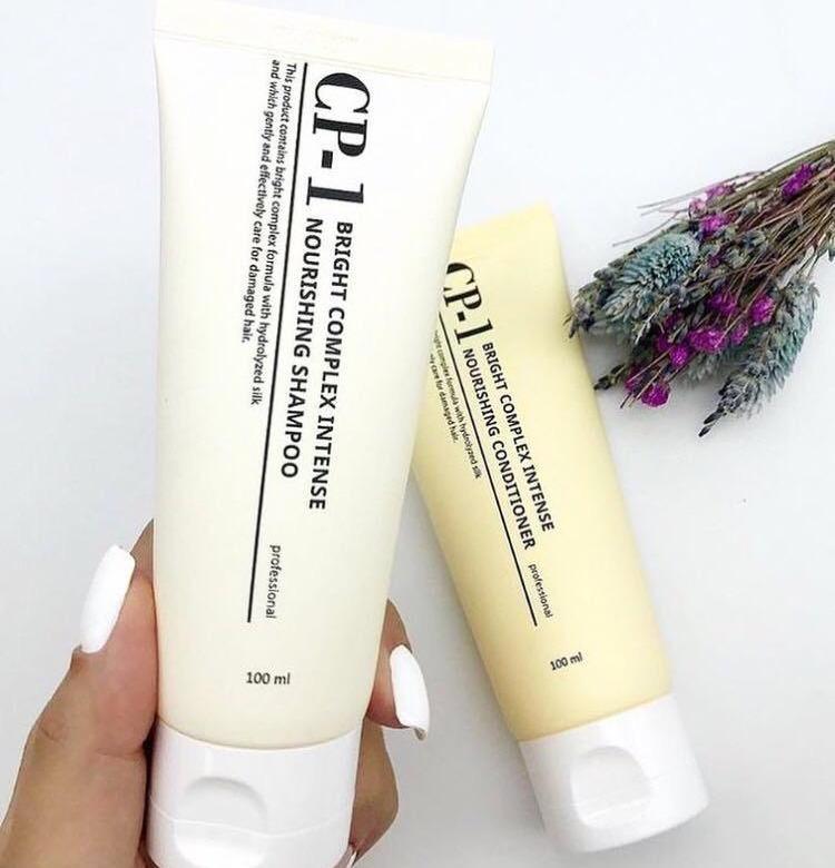 Shampoo + condicionador de cabelo casa estética CP-1 complexo brilhante intenso nutritivo conjunto v2.0 (mini)