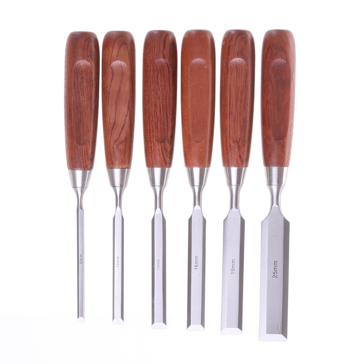 A Qiangsheng Of Woodworking 6pcs Linen In Chisel Fine   Set Box Woodworking Wooden Chisels  Bonus Luban