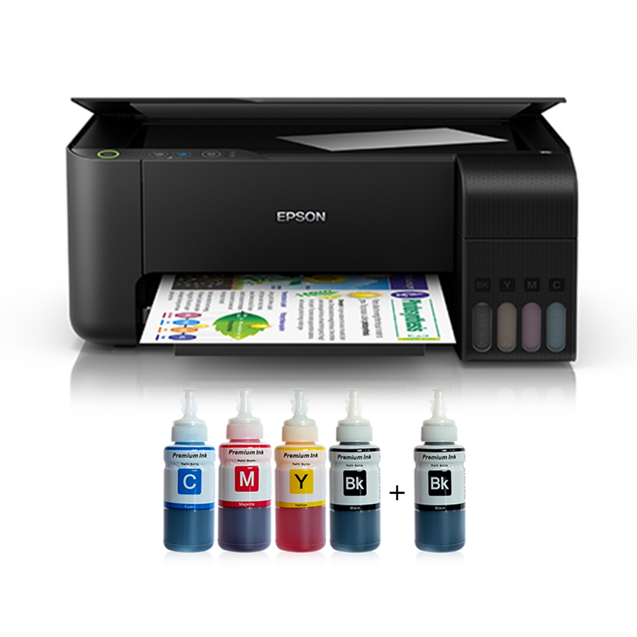 Epson Tank L3150 Photoink Ink Printer 4 Color Ending Cartridge (2 Black Ink Gift) epson L3050 Instead Coming Out Mode
