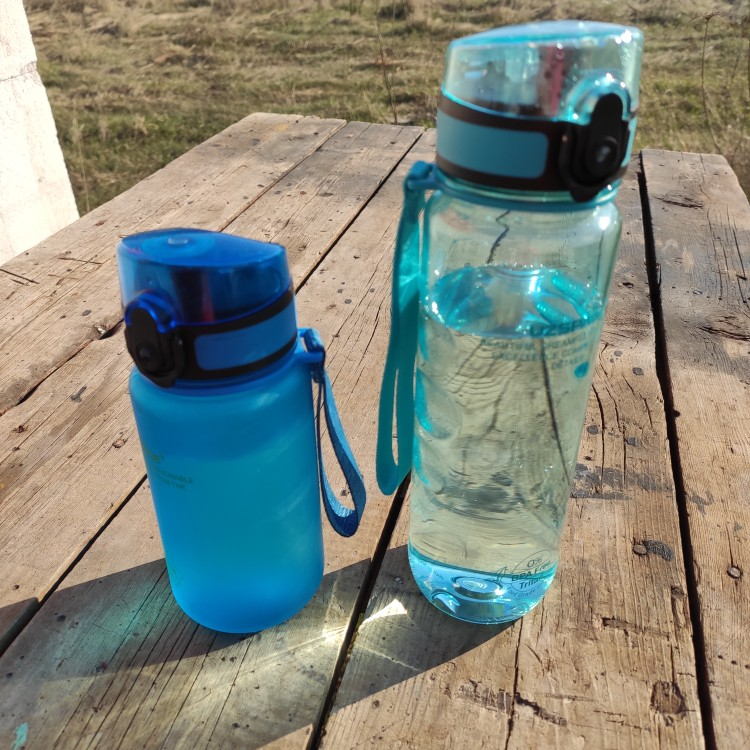 UZSPACE Sport Water Bottle Direct Drink or Straw fruit Infuser Bottle 500ml Portable Leakproof Gourde Plastic Drinkware BPA Free|Water Bottles|   - AliExpress