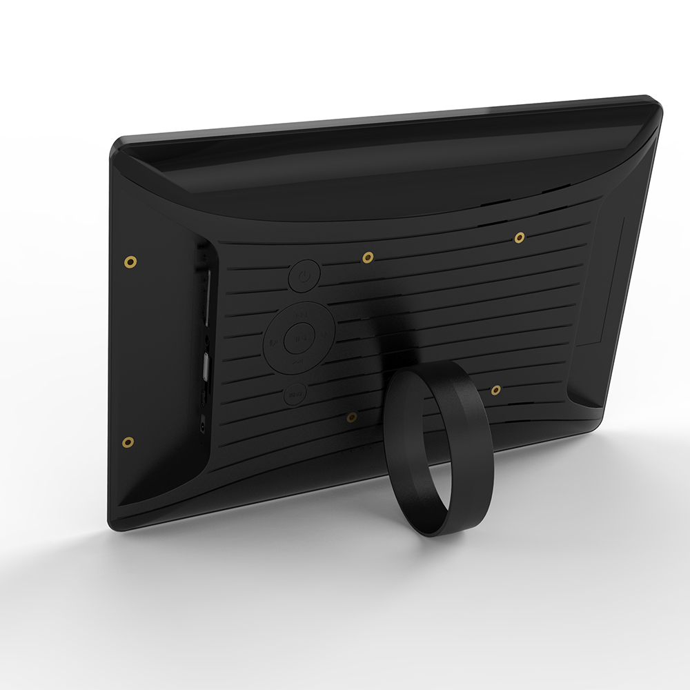 10 inch PoE Android tablet pc flush wall mounted in black (RK3288, 2GB DDR3, 16GB flash, wifi, Ethernet, BT, VESA 75*75mm)