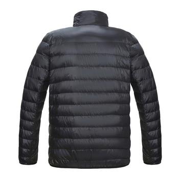 KISSQIQI Mens Packable Down Jackets Lightweight Puffer Coat Winter Casual Outdoor Travel Sport Overcoats 2