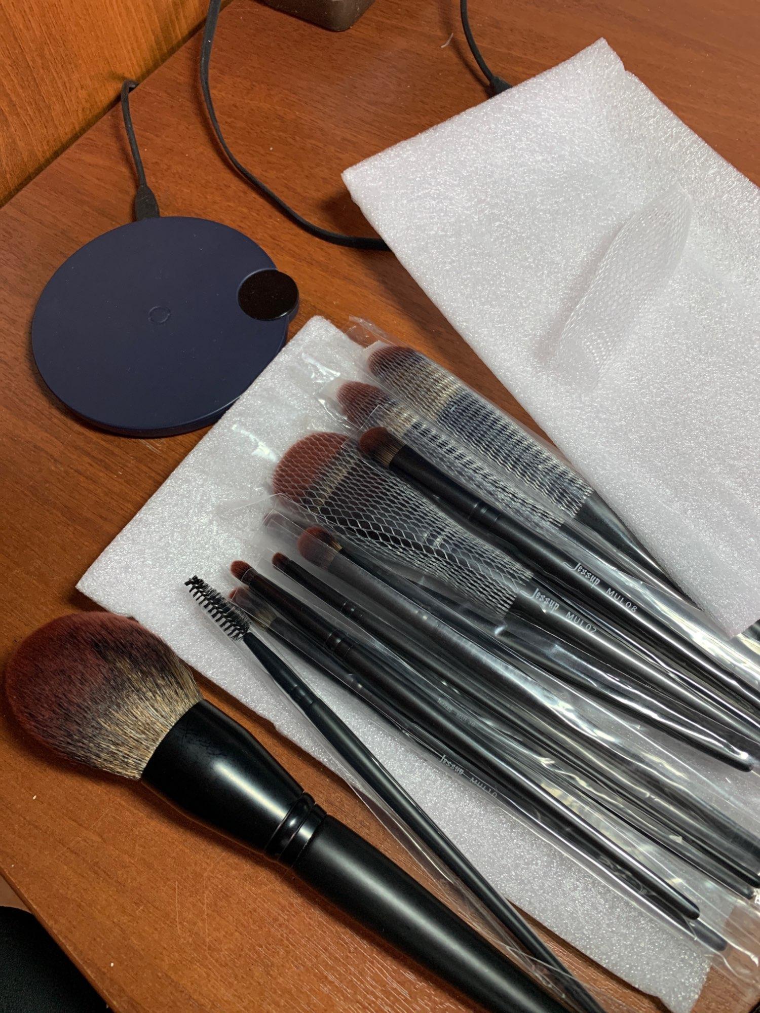 Jessup New Arrival Makeup brushes brushes Phantom Black 3-21pcs Foundation brush Powder Concealer Eyeshadow Synthetic hair reviews №2 337677