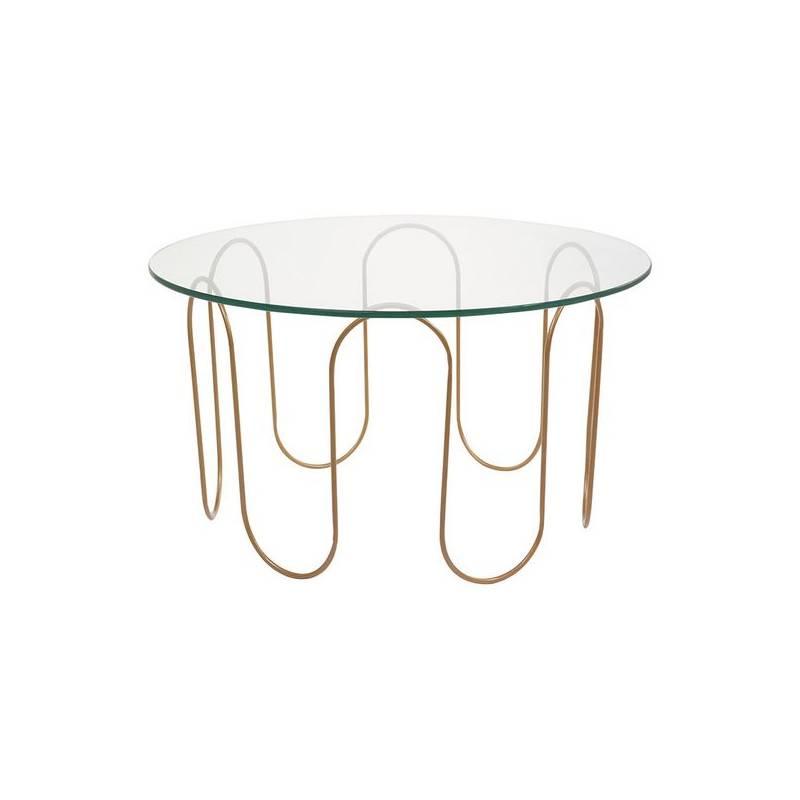 Coffee Table (75x75x40 Cm) Crystal Iron