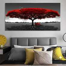 Modern Landscape Tree Forest Abstract Canvas Painting Poster Print Wall Art Picture For Living Room Home Decor Frameless