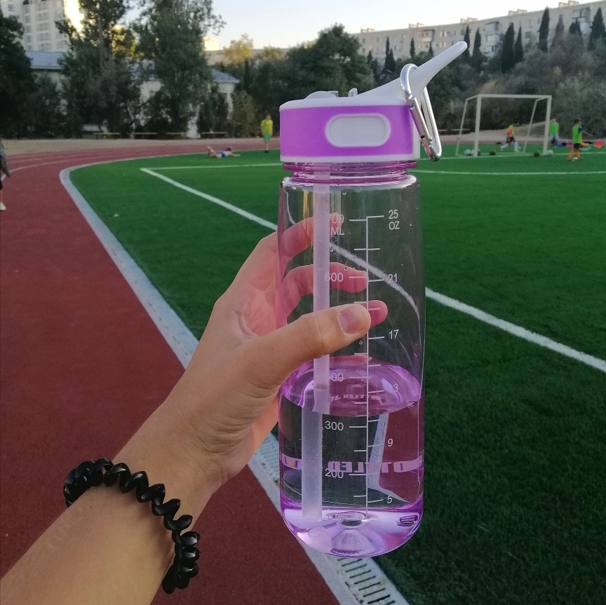 bottled joy 0.7L  water bottle with straw and Handle Tritan bpa free drink water bottles for kids  my gym Plastic bottle-in Water Bottles from Home & Garden on AliExpress