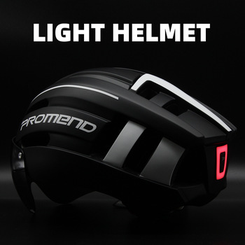 PROMEND Bicycle Helmet LED Light Rechargeable Intergrally-molded Cycling Helmet Mountain Road Bike Helmet Sport Safe Hat For Man 1