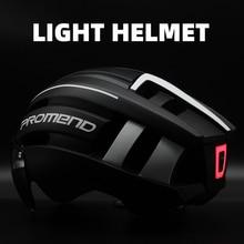 PROMEND bisiklet kask LED ışık şarj edilebilir entegral kalıplı bisiklet kask dağ yol bisiklet kaskı spor güvenli şapka adam