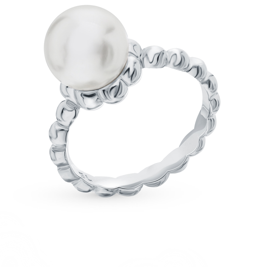 Silver Ring With Pearls Sunlight Sample 925