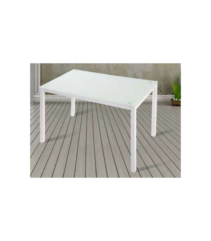 Dining Table Nuria White Crystal