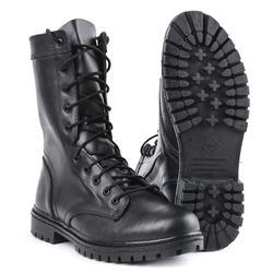 Botas militares semiseason de cuero negro con cordones y cremallera, Zapatos de deporte de senderismo para hombre 0051/11 WA