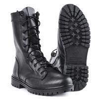 Demiseason armée bottines noir cuir lacets et fermeture éclair randonnée sport homme chaussures 0051/11 WA