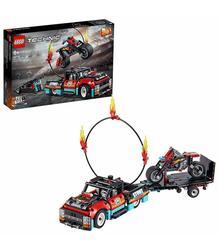 ليمان 42106 عرض أكروباتيكو: شاحنة ومتجر لعبة دراجة نارية