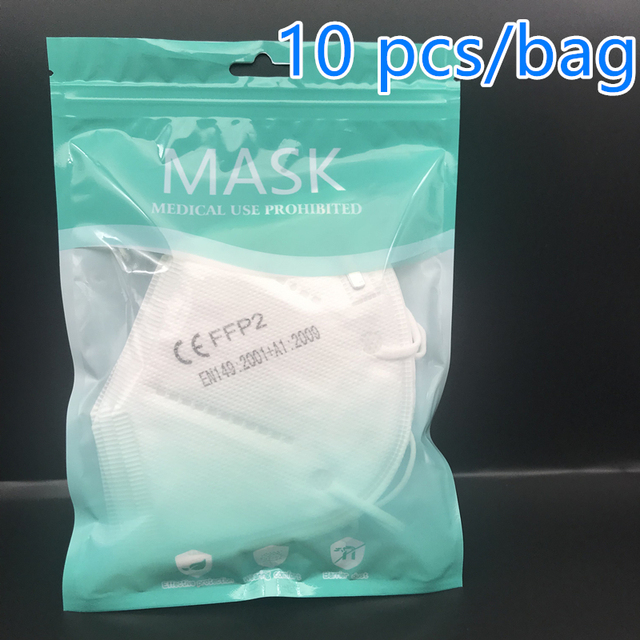 100pcs Fast shiping FFP2 Mask KN95 Face Masks Safety 95% Filtration for Dust Particulate Pollution Protective Mouth Mask 3