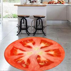 Else BSlice of Red Tomato свежие овощи 3d рисунок принт противоскользящие задние круглые кухонные ковры для гостиной