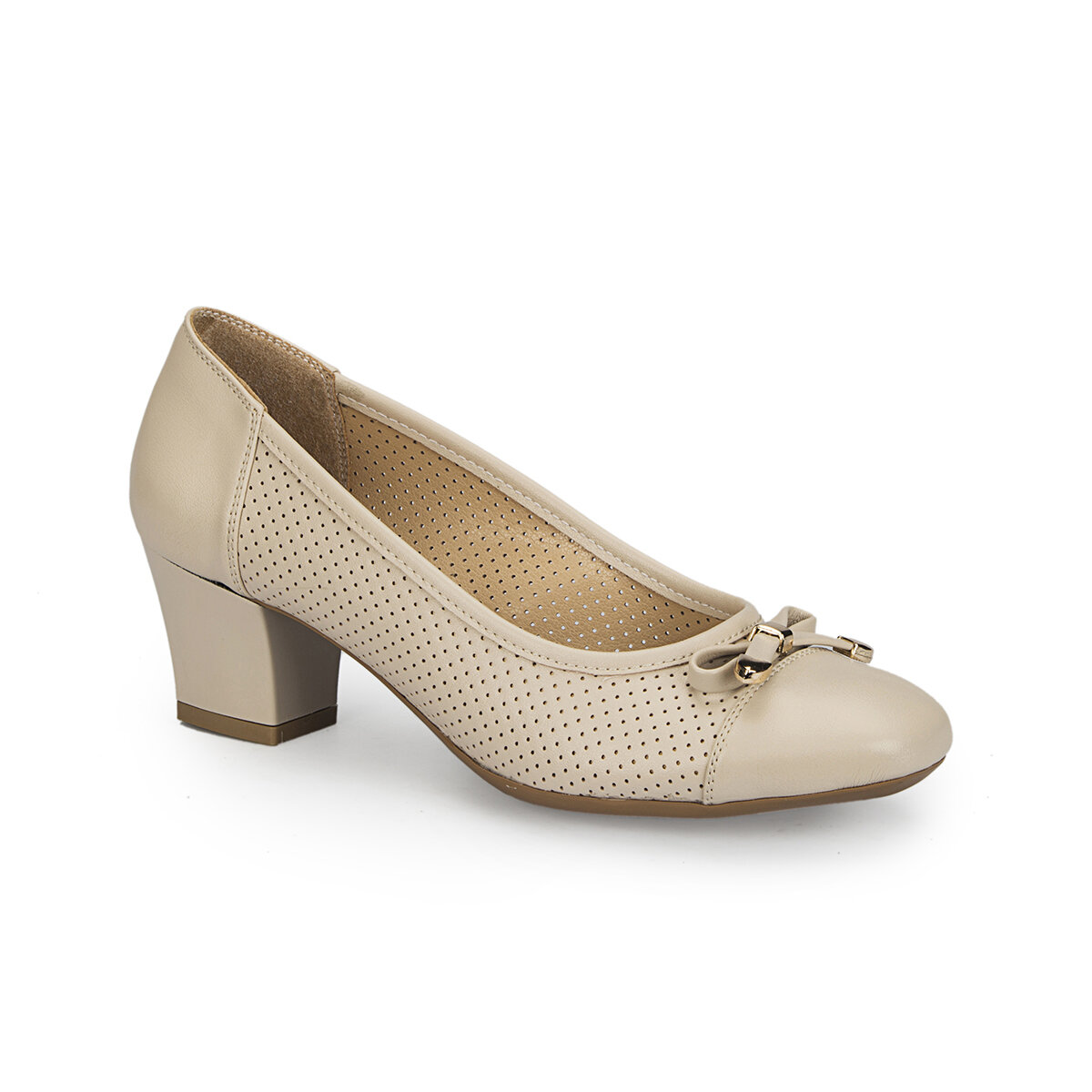 FLO 81.309759.Z Beige Women Dress Shoes Polaris
