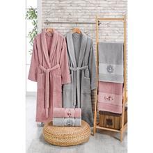 6 pc Women Men Bathrobe Bath Cotton Towel Set