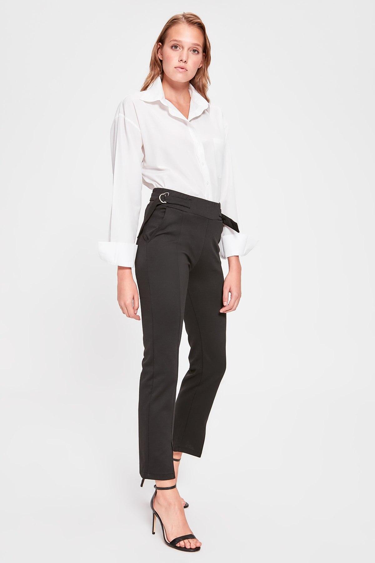 Trendyol Black Arched Knitting Pants TWOAW20PL0238