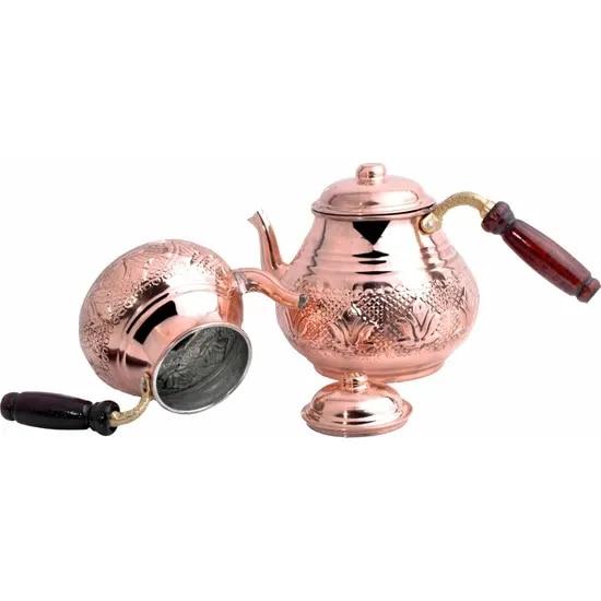 Turkish Handmade Copper Teapot Double Boiler 3