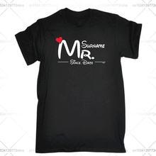 Забавная Мужская футболка модная одежда футболки mr surname