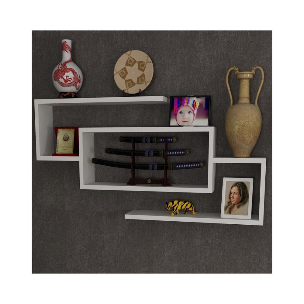 ชั้นวาง & ชั้นวาง MADE IN ตุรกีโมเดิร์นชั้นวางของตกแต่งห้องนั่งเล่นไม้ผู้ถือหนังสือ Organizer ชั้นวาง...