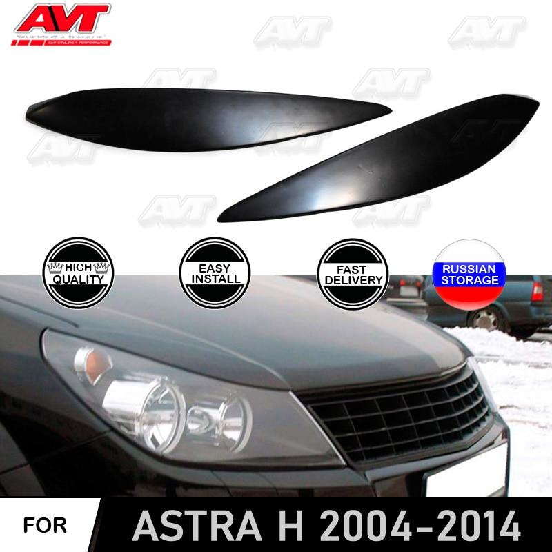 Cilia cejas para Opel Astra H 2004-2014 abs molduras de plástico luces de cabeza Diseño interior accesorios de decoración de estilo de coche