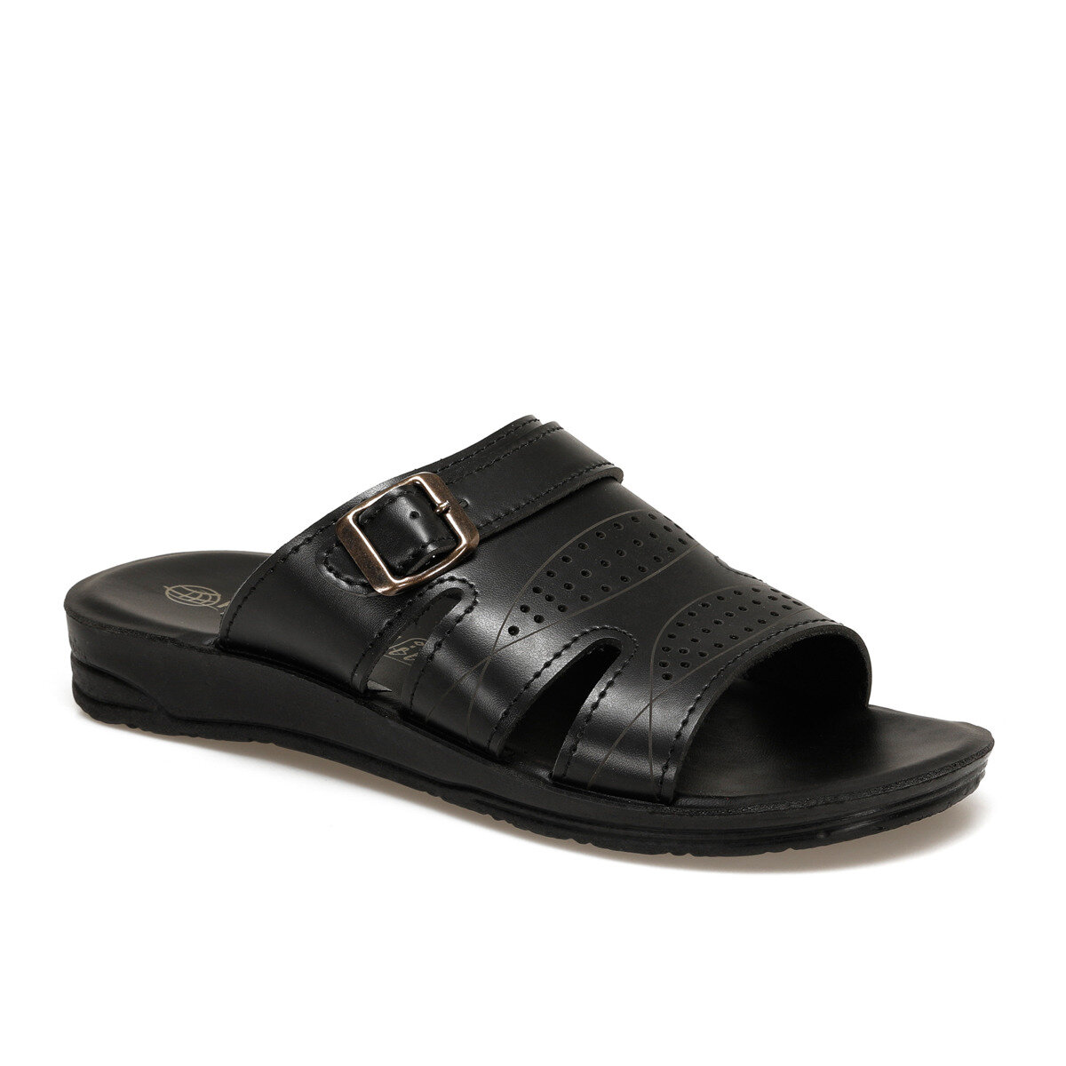 FLO ECM Black Male Slippers Panama Club