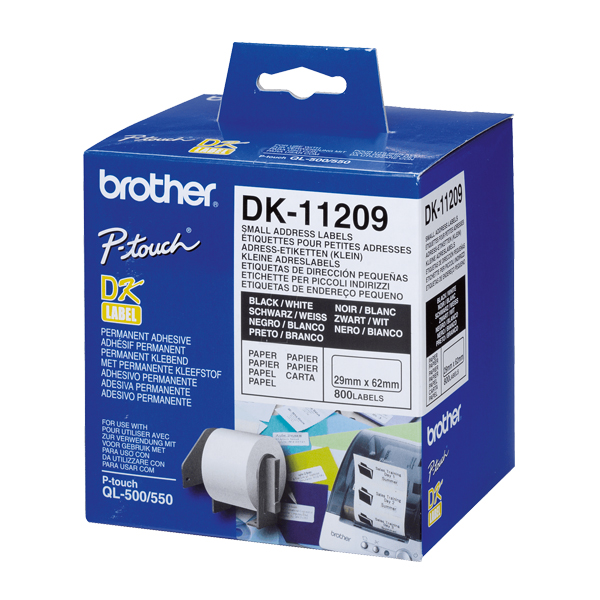 Printer Labels Brother DK11209 62 X 29 Mm White