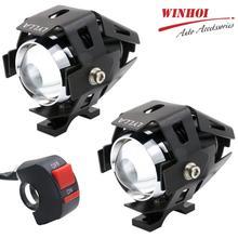 цена на U7 Led Motorcycle Headlights 125W 6000k Transfermers Fog Light Spotlight Hi/Lo Flash Light Universal Motorbike Head Light Lamp