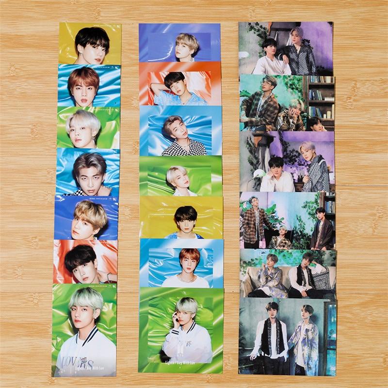 7 Pcs Set New K Pop Bts Bangtan Boys Photo Cards Paper Cards Self