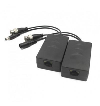 Converter Kit UTP Video + Power Supply For HDCVI/TVI/AHD RJ45 DC24-36V (2 Pcs) PFM801